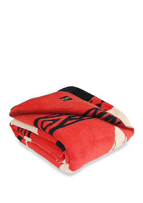 Beacon Linens Inca Red Blanket