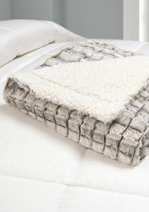 Hotel Suite Micromink/Sherpa Reversible Throw