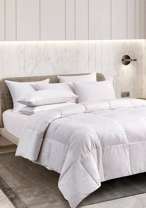 All Season White Goose Feather and Down Fiber Comforter