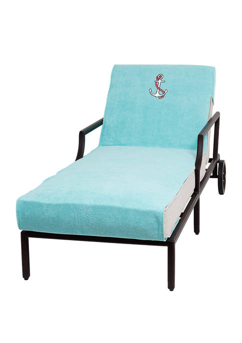 Linum Home Textiles Embroidered Anchor Standard Size Chaise