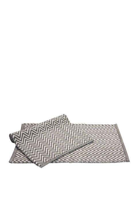 Chesapeake Set of 2 Portland Houndstooth Accent Rugs