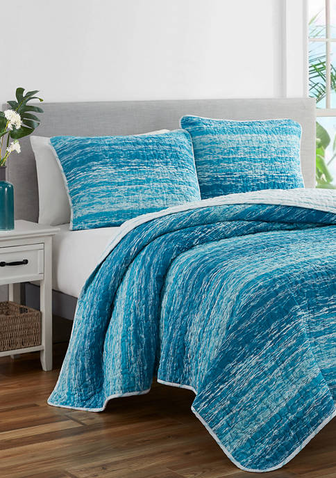 Mytex Ocean Stripe Reversible Pre Washed Cotton Quilt