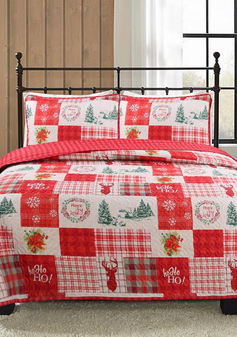 Holiday Patchwork 3-Piece Quilt Set