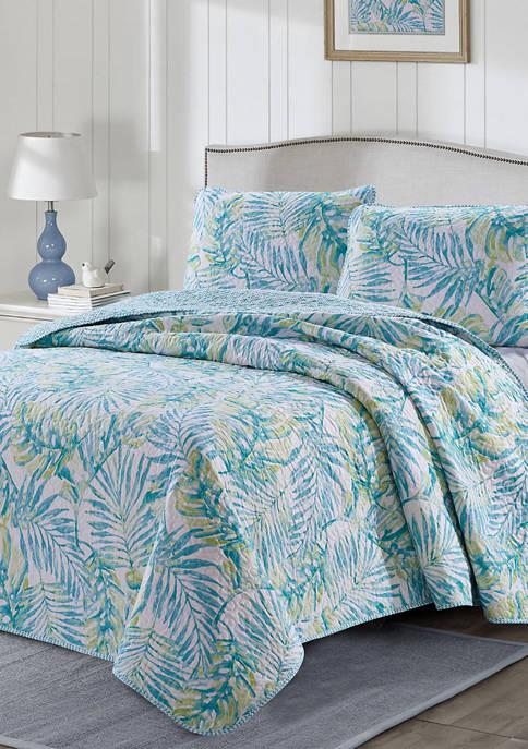 Tropical Vibes Reversible Quilt Set