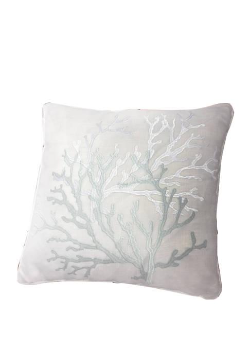 Harper Lane Blue Coral Decorative Throw Pillow