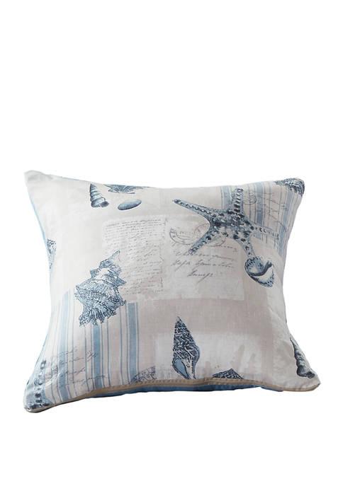 Harper Lane Ocean Postcards Decorative Throw Pillow