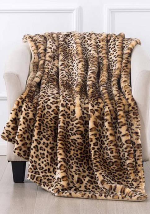 Cheetah Faux Fur Throw