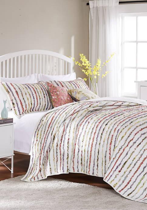 Bella Ruffle Quilt Set with Bonus Pillows