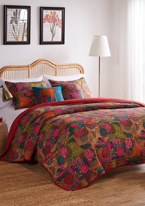 Jewel Quilt Set with Bonus Pillows