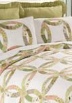 Annies Wedding Ring Pieced Patchwork Quilt Set