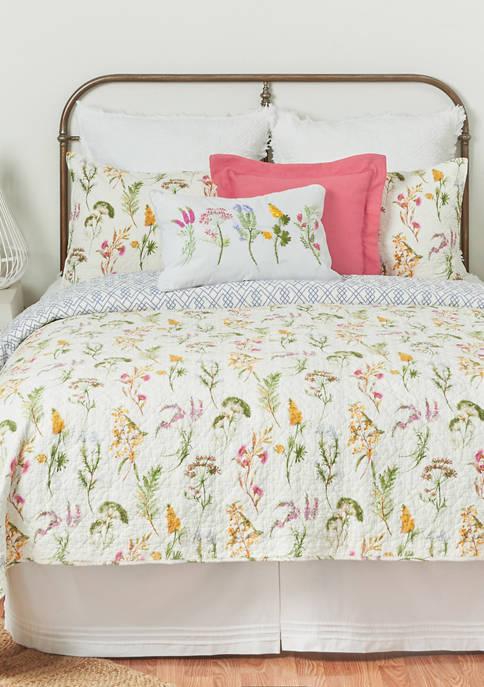 C&F Genevieve Floral Quilt Set