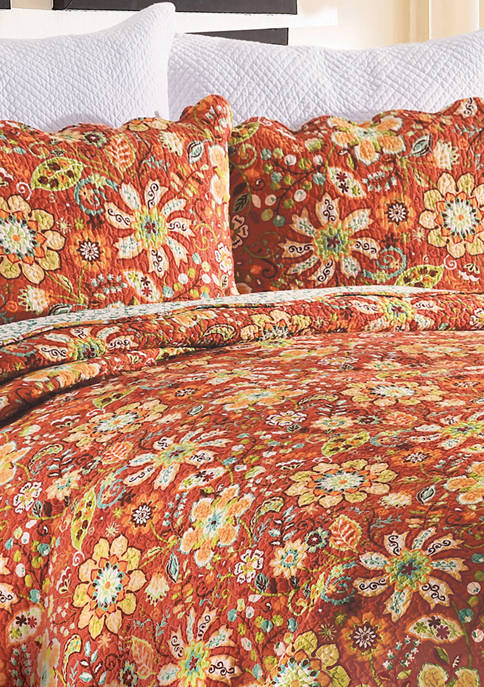 C&F Ghisella Floral Quilt Set