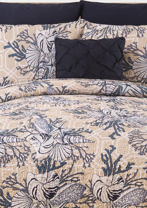 Indigo Sound Coastal Quilt Set