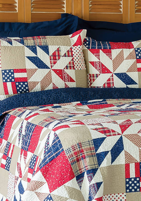 C&F Levi Americana Patriotic Quilt Set