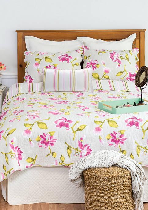 C&F Liliann Floral Quilt Set