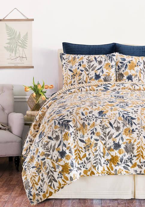 C&F Natural Home Floral Quilt Set