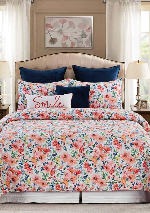 C&F Nicole Floral Quilt Set