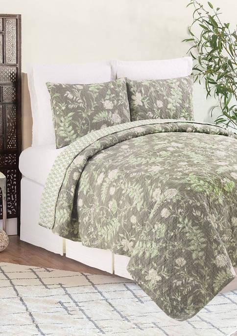 C&F Solomon`s Seal Floral Quilt Set