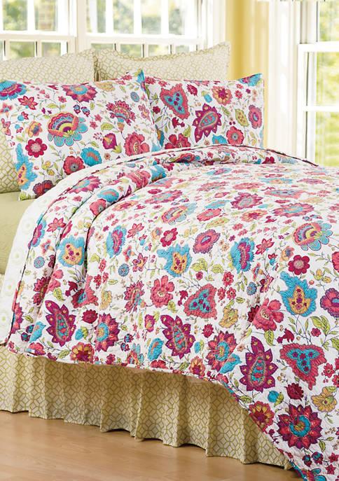 C&F Teagan Floral Quilt Set