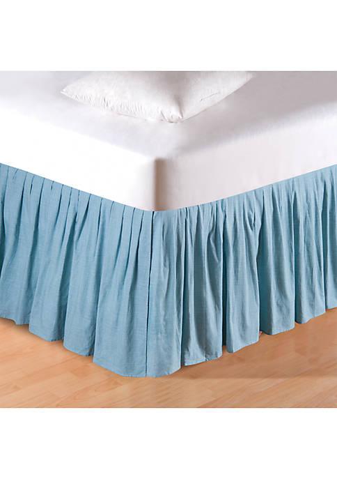 C&F Aegean Grid Bedskirt