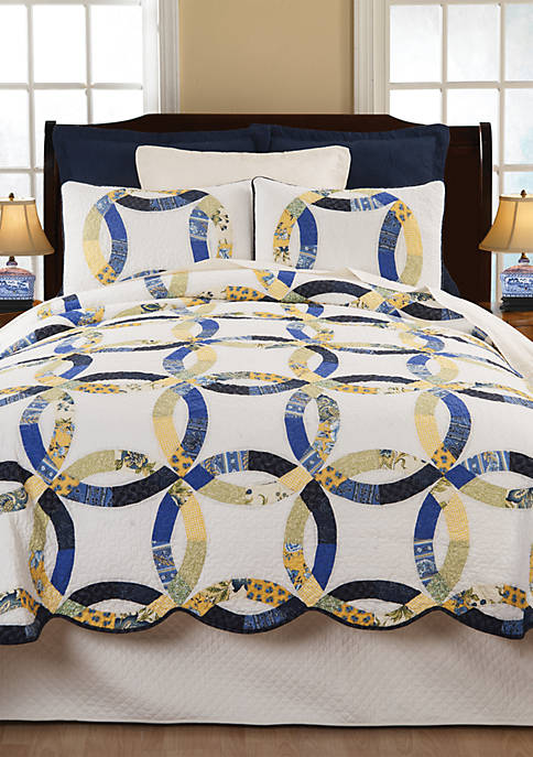 C&F Home Provence Wedding Ring Quilt Set