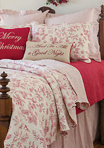 Evergreen Toile Quilt Set