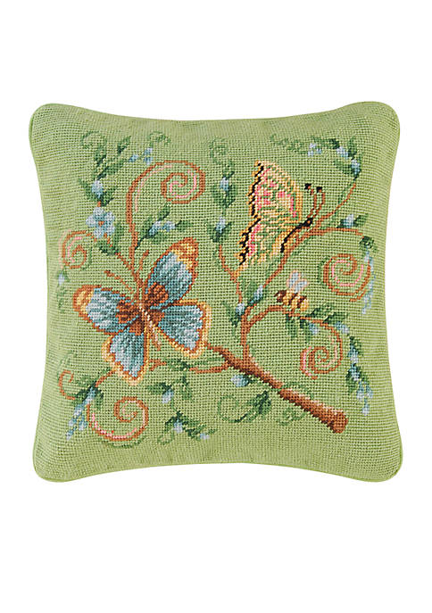 C&F Floria Butterfly Garden Throw Pillow