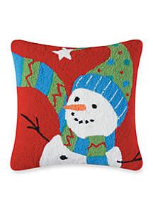 Festive Frosty Decorative Pillow