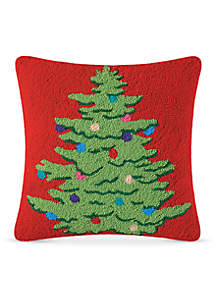 Decorated Tree Decorative Pillow