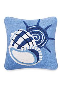 Blue Seashells Decorative Pillow