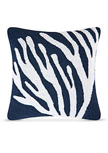 Coral On Blue Decorative Pillow