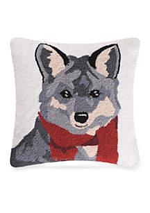 Welcome Friends Fox Throw Pillow