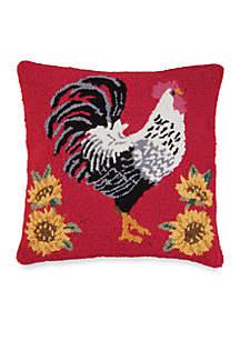 Parisian Rooster Decorative Pillow