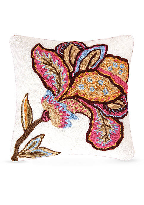 C&F Bethany Flower Decorative Pillow
