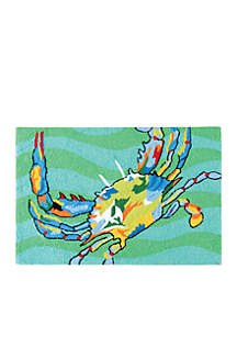 Crab Hooked Rug