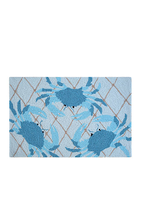 C&F Netted Crabs Hooked Rug