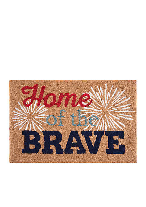 C&F Home Of The Brave Parfait Hooked Rug