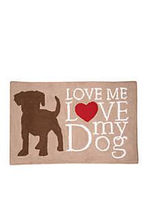 Dog Love Hooked Rug