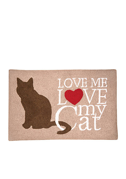 C&F Cat Love Hooked Rug