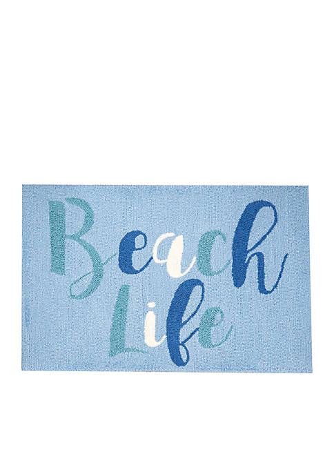 C&F Beach Life Hooked Rug