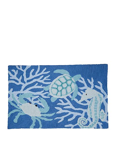 Sea Life Hooked Rug