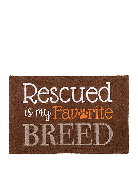 C&F My Favorite Breed Hooked Rug