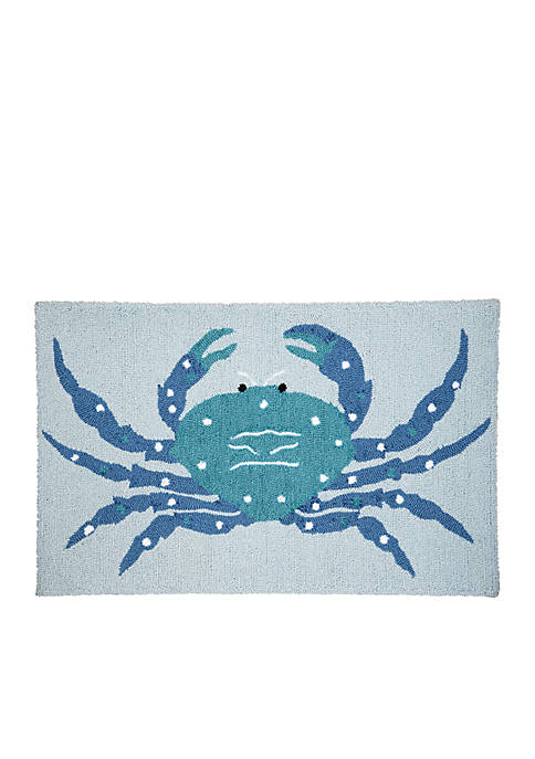 C&F Crab Hooked Rug