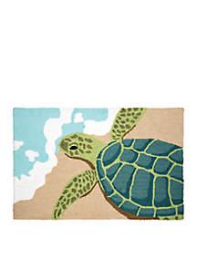 Turtle Waves Hooked Rug