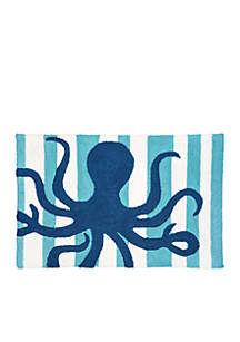 Striped Octopus Hooked Rug