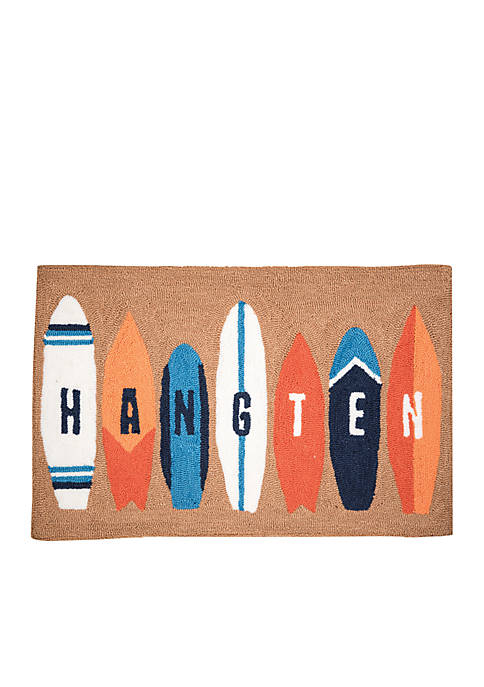 C&F Surf Board Hooked Rug