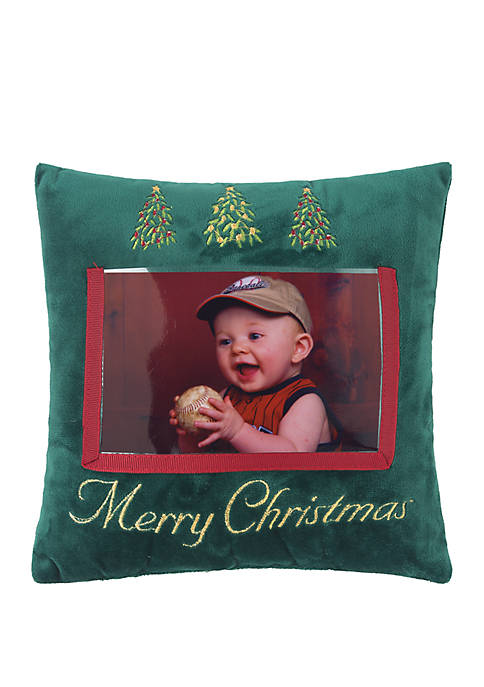 Picture Merry Christmas Throw Pillow