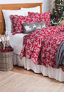 C&F Home Silver Mistletoe Quilt