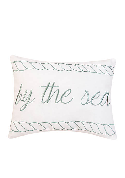 C&F By the Sea Embroidered Decorative Pillow