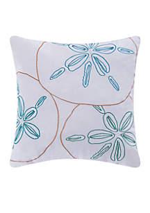 Treasure Beach Sand Dollar Decorative Pillow